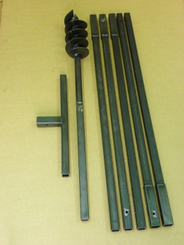120 mm 4 meter auger set, earth auger, well drill, hand auger