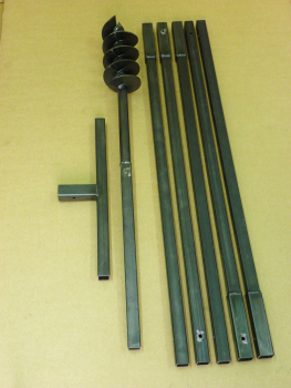 120 mm 6 meter auger set, earth auger, well drill, hand auger