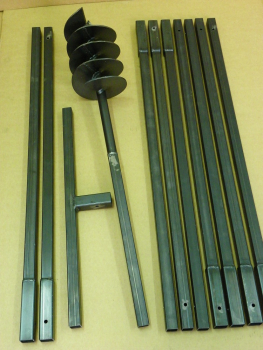 180 mm 10 meter auger set, earth auger, well drill, hand auger