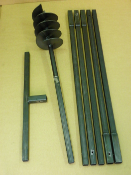 180 mm 6 meter auger set, earth auger, well drill, hand auger