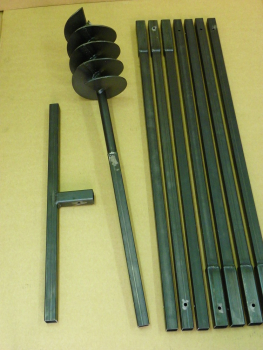 180 mm 8 meter auger set, earth auger, well drill, hand auger