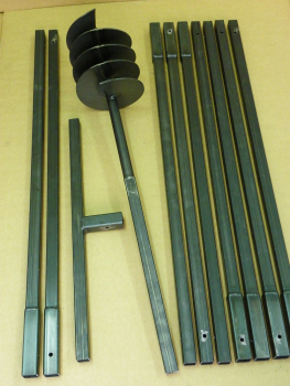 200 mm 10 meter auger set, earth auger, well drill, hand auger