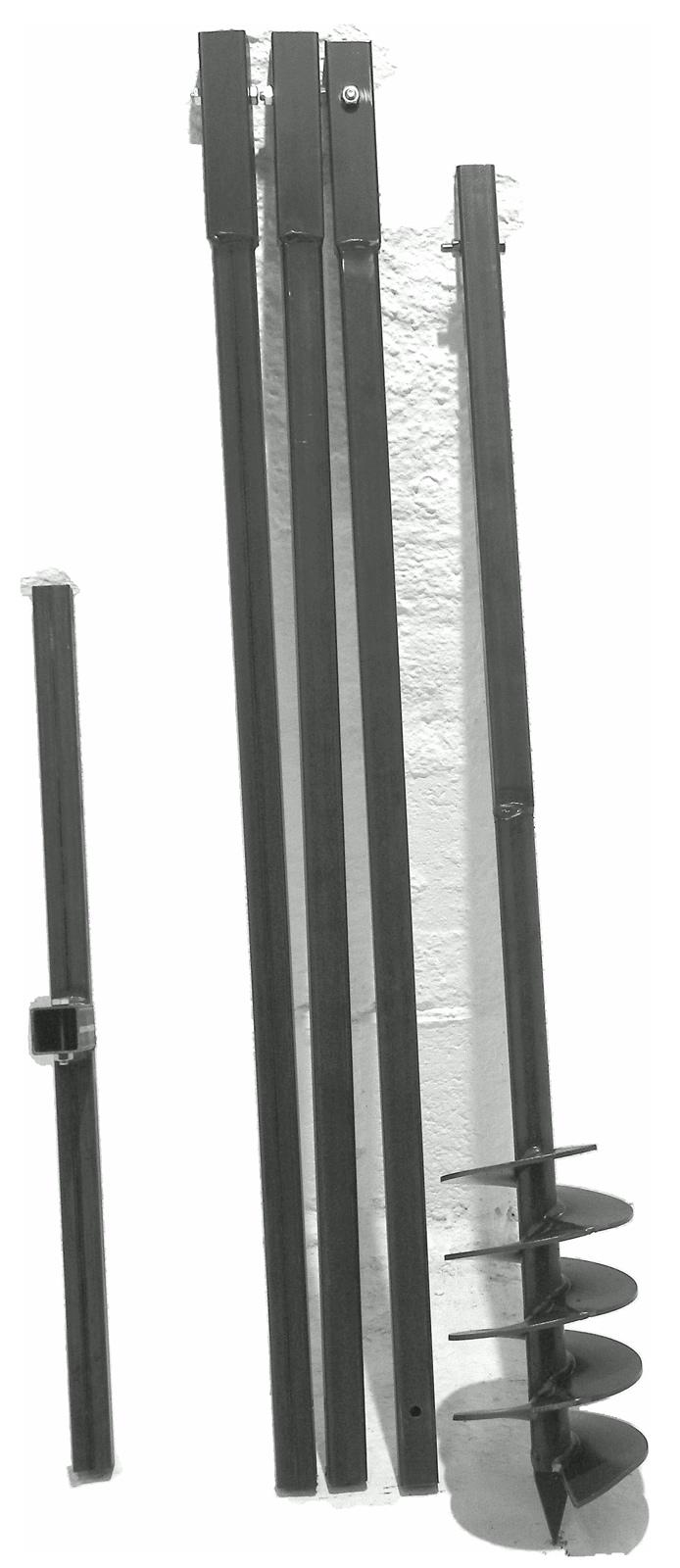 WERHE Profi Bohrer f/ür Erdbohrer 100 mm Pfahlbohrer Brunnenbohrer pr/äzise Bohrspitze Doppelspiral Hartmetall eco Farbe