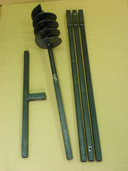 180 mm 4 meter auger set, earth auger, well drill, hand auger